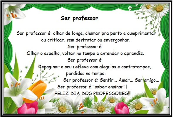 Mensagem Para Os Professores Do Ministério Infantil: Ser Professor é…