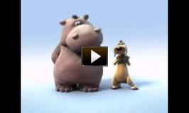 Video do hipopotamo e o cachorro