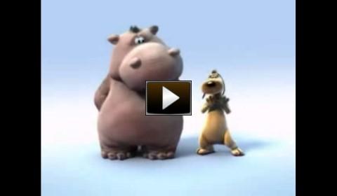 o video do hipopotamo e o cachorro