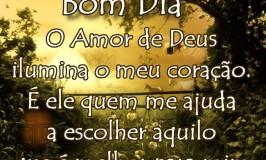 O Amor de Deus ilumina o meu coração