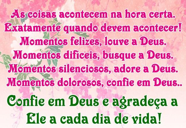 Mensagem De Confiança E Agradecimento à Deus Mensagens Angels