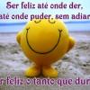 Ser feliz o tanto que durar
